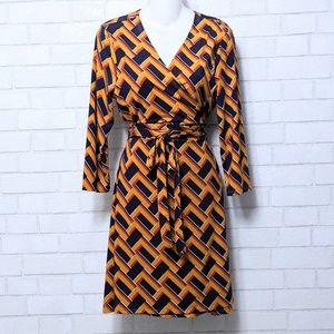 Justfab Career Wrap Dress X--Large